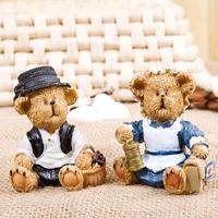 Bears Dolls Home Decoration Resin Dolls. Fashion Festival Gift.  Originality Desktop Crafts. Five Styles   ID A0109600