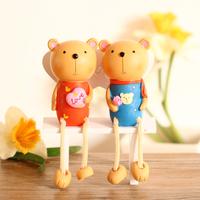 Bear dolls Home Decoration Resin Crafts. Wedding Gift Festival Gift. Originality Desktop Crafts.   ID A0210146