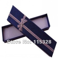 Wholesale 12pcs/lot 20*4.5*2.5cm Dark Blue Jewelry Box Necklace Bracelet Packaging Box Gift Box Free Shipping