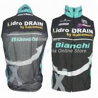 2013 TX Bianchi Black Bicycle sleeveless Jacket / 2013 TX Bianchi Cycling windbreaker vest / 2013 TX Bianchi cycling vest