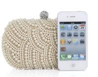 2014 Luxury Diamond evening bag Rhinestone Clutch Evening Crystal pearl bag Women's party  bags wallet Ladies wedding purse