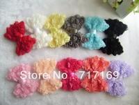 "Hair Accessories 11colors of 3.6"" Medium Chiffon ROSE Flower 50pcs/lot For DIY Headband"