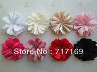 "3.8"" big shiny satin flowers 2014 NEW Style Girl Clothes Accessories 50pcs/lot"