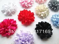 2014 new Hair flower Accessories 7cm flower baby hair cloth accessory Satin Flower 60pcs/lot