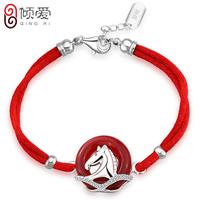 925 pure silver bracelet le formal red agate female zodiac bracelet lucky gift