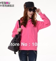 Free Shipping  New Autumn And Winter Korean Women's Blouses ThickenFleece Casual Hoodies/Cardigan 5colors D0145