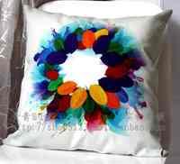 Short plush car derlook multi-colored cushion kaozhen pillow cover core 43cm