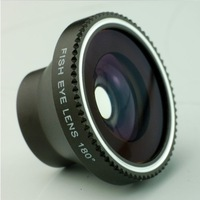 30pcs/lot 180 Fisheye Camera digital Detachable Lens kit For iPhone 4 5 Samsung S3 S4 LUMIA 920 Free Shipping CL-2
