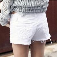 free shipping Cocopark summer women's flash denim shorts