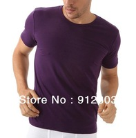 [ANYTIME] Men's 100% Cotton Sports Man Causal Male Clothing Leisure Undershirts O-neck Gym Active Shorts t-shirts Tees & Tops