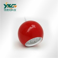 fashion living room 12w led apple droploght AC90-260V Yellow/ Red/ Green/ Orange/ Black free shipping by China Post