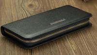 10pcs/lot Free shipping! High quality Men's Fashion vintage genuine leather long wallet male wallets man purse