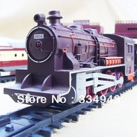 Free Shipping Promotion 9.4m Electric Train Engine Toys Headlight Musical Railway Track+Carriages  Children Car