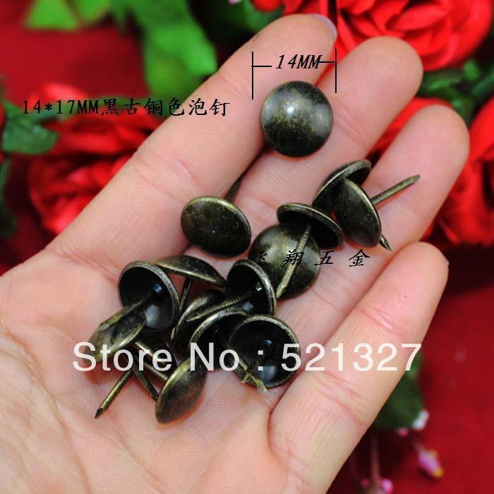 Glossy black bronze Nails decorated wooden sofa nail soft bag 14 * 17MM(China (Mainland))