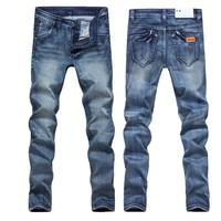 2013 slim pencil skinny pants male brief fashion elastic jeans trousers 389