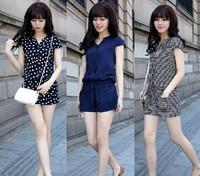 2279 3 6 2013 summer plus size clothing jumpsuit summer jumpsuit shorts