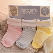 2014  children sock  100% child baby cotton baby socks brand socks carter six pairs one lot colorful socks(China (Mainland))
