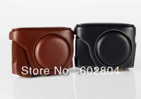 Wholesale! camera bag cover bag genuine leather case for leica C for Panasonic lumix LF1 camera case leather bag Free shipping
