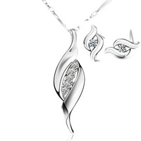Luxury Jewelry Sets 925 Sterling Silver,Austria Crystal & 3 Layer Platinum Plated,Top Quality OS05