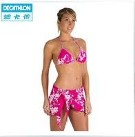 Freeshipping Decathlon beach wrap skirt three-piece bikini swimsuit beach pants boxer surfing TRIBORD