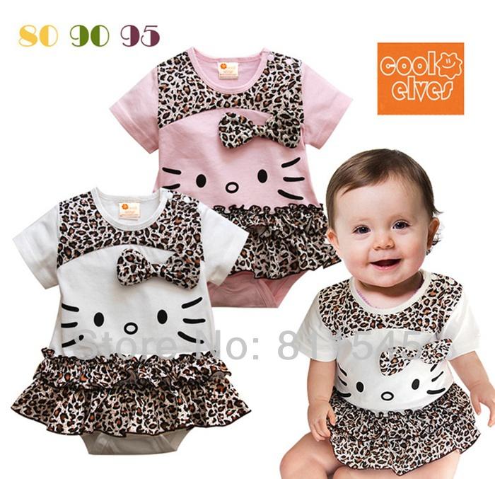 [해외]?/ One Piece Body Baby Leopard Romper Dress Girl J..