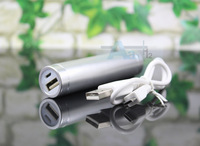 Silver-color 2600mAh Portable USB Universal External Battery Charger Power Bank Stick  A20_S