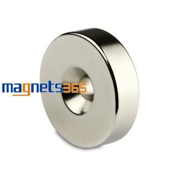 1 Big Round Ring Magnet 35mm x 10mm Hole 6mm Disc Rare Earth Neodymium N50 Grade
