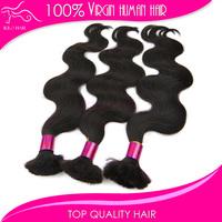 "Wholesale 10""-28"" unprocessed brazilian body wave hair bulk buy from china Mix length 3pcs virgin human hair bulk"