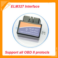 Free Shipping Latest Version V2.1 Super Mini ELM327 Bluetooth OBD2 Scanner ELM 327 For Multi-brand CANBUS Support All OBD2