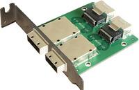 sff-8088 to sff-8088 adapter 2 Ports Mini SAS for Internal sas 36P to 2 Port External sas26P Front Panel PCI SAS Card Adapter
