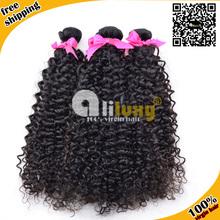 human hair extension,100% malaysian virgin hair,7Amalaysian curly, 3pcs/lot,mixed length, free shipping(China (Mainland))