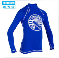 Freeshipping Decathlon surfing sunscreen swimsuit teen tight long-sleeved clothing beach TRIBORD
