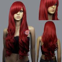 JF800 wonderful long red health hair wig +wigs CAP