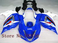 For Suzuki GSX650F 2008 2011 blue white black  GSX 650F 08 09 10 11 GSX650F 2008 2009 2010 2011 ABS Fairing Set Plastic Kit 01