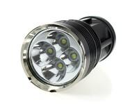 Free shipping Skyray King Super Bright 4X CREE XM-L T6 LED Flashlight 5000Lm LED Torch
