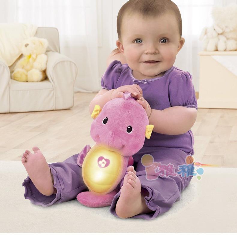 Neue fisher Ozean Wunder beruhigen und glühen Seepferdchen beruhigende Baby einschlafen baby rassel spielzeug pink/blau versandkostenfrei
