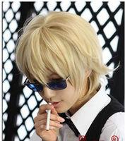 UJF81 beautiful light Blonde Short Heat Hair Cosplay Wig