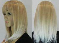 JF279 vogue short blonde white mix health hair wig +wigs CAP