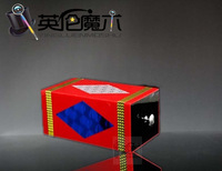 Magic props high quality red acrylic transparent box aeroid peoperties