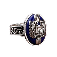 2013New arrival Hot Sales Fashion Vintage Vampire Diaries Salvatore Damon Stefan finger Family Crest RING
