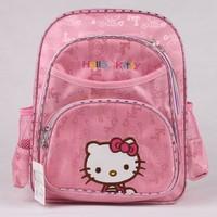 KT3571 New Fashion Kids Print Cartoon Hello Kitty Children Backpack Bag / Canvas School Bag For Children, Free Shipping
