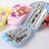 10sets/lots Cartoon beauty nail art toiletry kit ( 6 piece in a set )tape mirror
