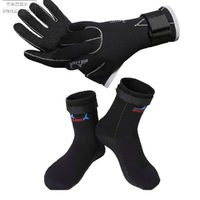 Warm gloves for winter swimming gloves, thick socks, gloves, men and women swimming diving snorkeling stab mill