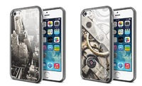 SGP Spigen Slim Ultra Hybrid Case TPU Clear Transparent Rear Panel Cover for iPhone 4 4S Free Shipping DHL 100pcs/lot