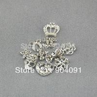 HOT 20pcs/LOT Alloy Metal Rhinestones Bow Imperial crown Nail Art Deco DIY nail tip giltter decoration free shipping