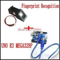 Fingerprint Recognition Module +UNO R3 MEGA328P ATMEGA16U2 for Arduino Free Shipping
