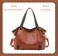100% genuine leather handbag fashion 2014 women messenger bag one shoulder cross-body handbag first layer of cowhide female bags