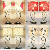 Modern Table Lamp rustic married crystal table lamp bedroom bedside lamp dimming Abajur Lighting