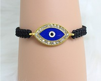 2014 New Evil Eye Knitted Bracelets Female Fashion Vintage Anchors Rectangle For Women Men Ladies Female Male 2014