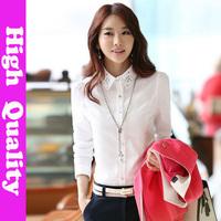 new autumn ladies blouses in 2014 fashion body summer clothes  chiffon plus size blusas femininas tops for women  white shirt